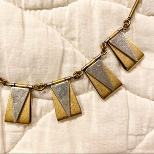 J Crew Silver and Gold Necklace